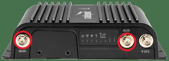 SMA ports on the Cradlepoint COR IBR900